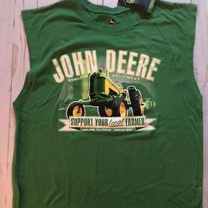 JOHN DEERE Women/'s Farmers Eagle Tee /'/'Support Your Local Farmers/'/' Navy